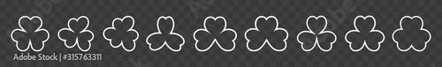 Fotografía Shamrock Icon White | Shamrocks | Trefoil | Clover Leaf | Irish Symbol | St
