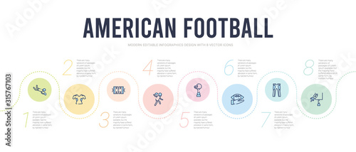 Photo american football concept infographic design template