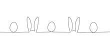 Outline Of Easter Rabbit Ears ...