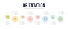 Orientation Concept Infographi...