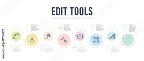 edit tools concept infographic design template Canvas Print