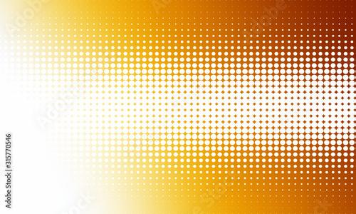 Abstract; bright orange halftone background design