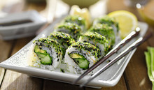 Healthy Vegetarian Sushi With Kale And Avocado