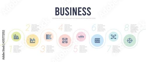Cuadros en Lienzo business concept infographic design template