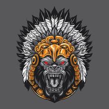 Angry, Animals, Ape, Big, Bran...