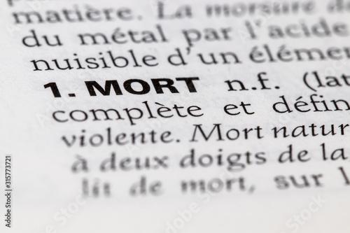 Définition du mot mort dans le dictionnaire français Wallpaper Mural
