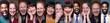Leinwandbild Motiv Group of people in a collage
