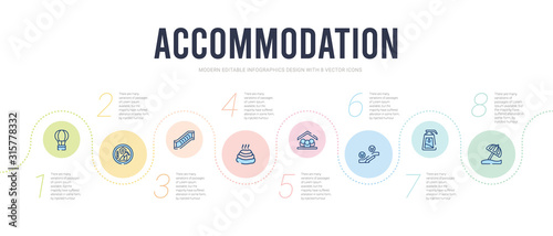 accommodation concept infographic design template Wallpaper Mural