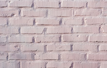 Painted Brick Wall In Light Pi...