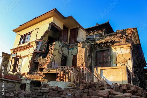 Fotografie, Obraz The earthquake that struck Nepal in 2015