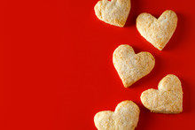 Heart Shaped Sugar Cookies On ...