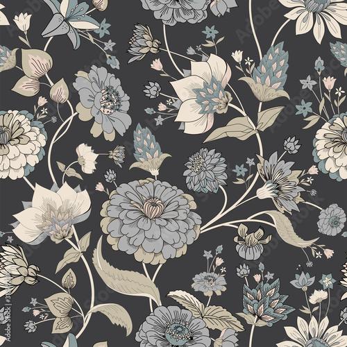 Fototapeta Floral seamless original pattern in vintage paisley style obraz