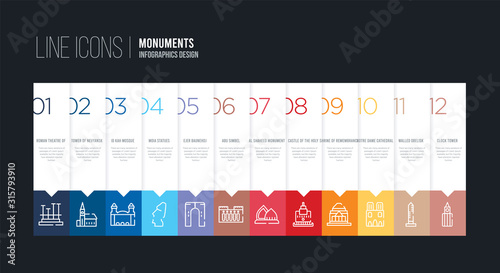 infographic design with 12 options Slika na platnu