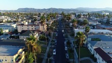 Aerial Over Palm Trees And Los...