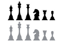 Silhouette Icons From Chess Pi...