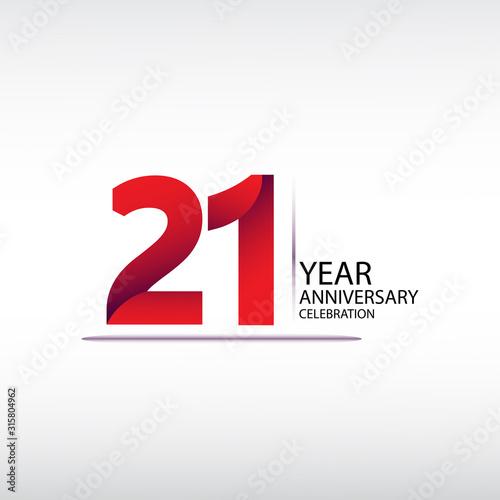 Fotografia 21 years anniversary celebration logotype