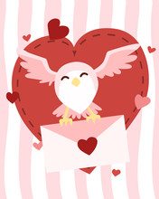 Happy Valentine's Day Owl Flyi...