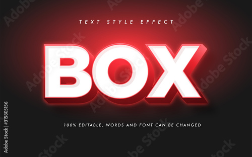 Fotografie, Tablou Modern Box Bold Text Style Effect