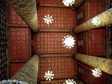 Interior Of Temple In Thailand