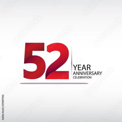 Fotomural 52 years anniversary celebration logotype