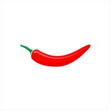 Red Hot Chili Peper Vector Isolate On White Background For Graphic Design, Logo, Web Site, Social Media, Mobile App, Ui Illustration