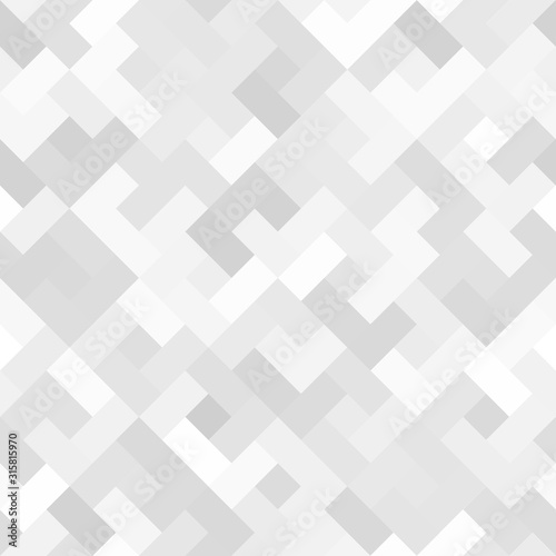 Abstract Black And White Seamless Rectangle Bricks Pattern Background Wallpaper Mural