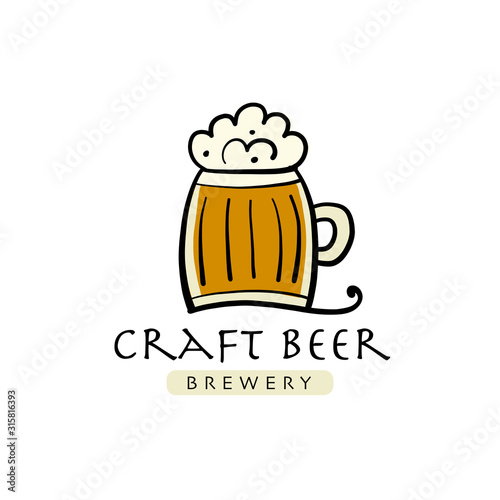 Photo Logo design template for beer house, bar, pub, brewing company, brewery, tavern,