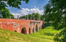 Ancient Brick Bridge. The Arch...