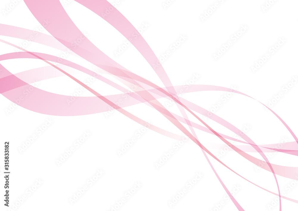 Fototapeta アブストラクト ウェーブ 曲線 ピンク