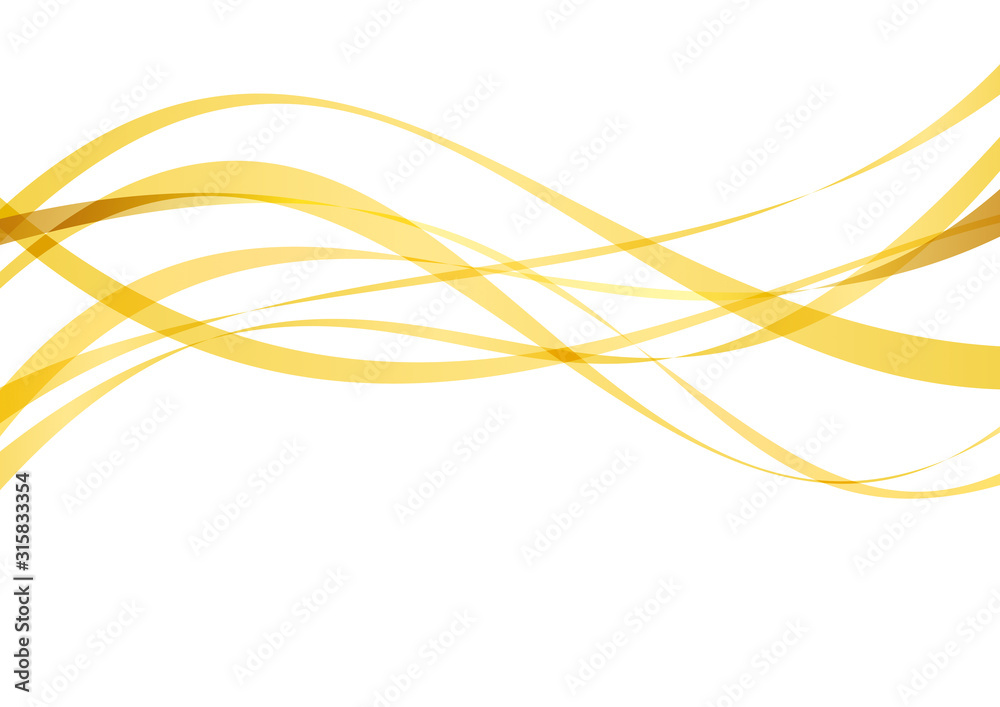 アブストラクト ウェーブ 曲線 黄色