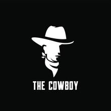 Black Cowboy Bandit Head Logo ...