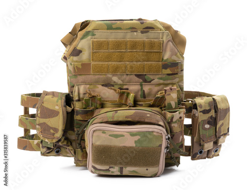 Photo Military body armor isolated on white background