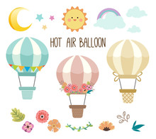 The Collection Of Cute Hot Air...