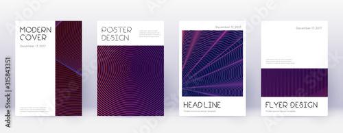 Fototapeta Minimal brochure design template set. Violet abstr obraz