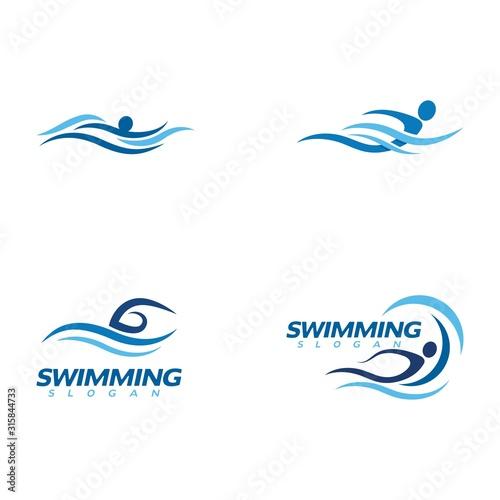 Photo swimming Vector illustration Icon
