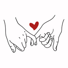 Pinky Promise  Outline Vector ...