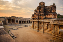 Ancient Temple Ruins In Hampi