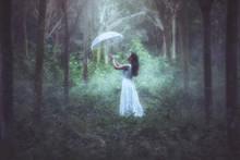 A Girl With A White Umbrella S...