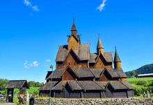 Old Wooden Stave Church Of The...