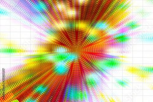 Photo eccentrico allegro circolo di luci