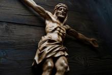 Cruciefied Jesus Figure Isola...