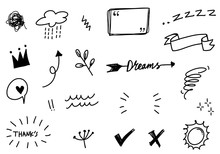Hand Drawn Set Elements, For C...