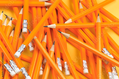 Many pencils piled in a big pile object - Image Wallpaper Mural
