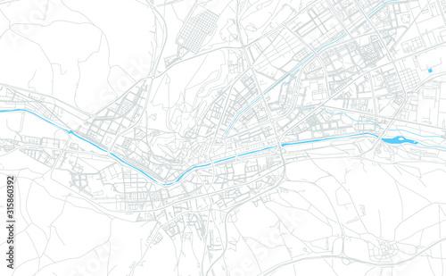 Burgos, Spain bright vector map