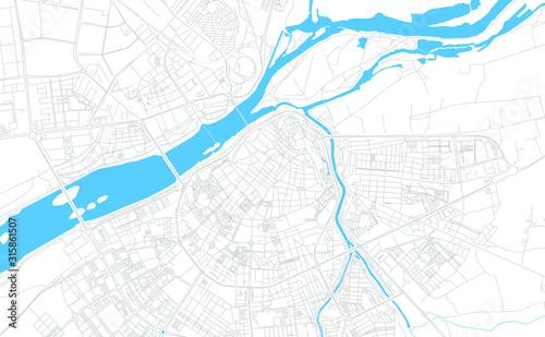 Badajoz, Spain bright vector map