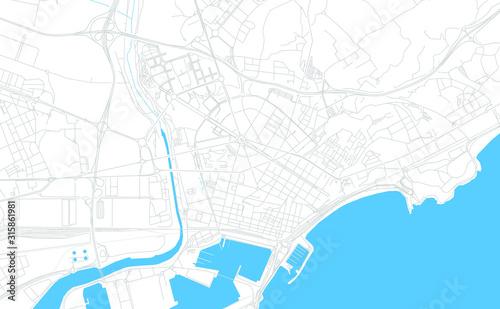 Tarragona, Spain bright vector map