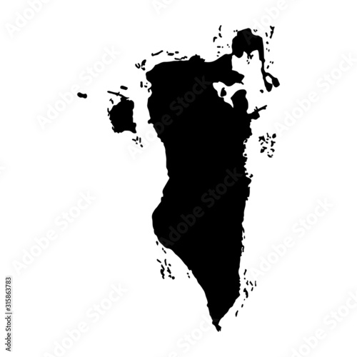 Photo Bahrain map vector, isolated on white background