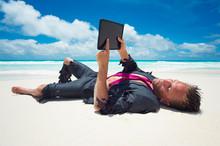 Castaway Businessman Relaxing ...