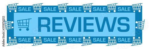Fototapeta Reviews Blue Sale Shopping Carts Horizontal