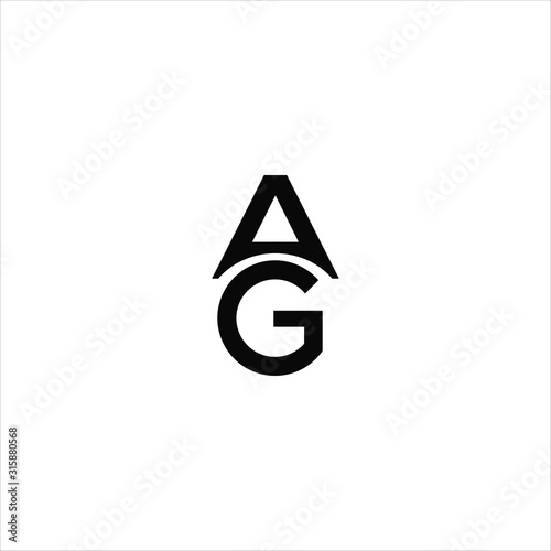 Initial letter ga or ag logo vector design template Canvas Print